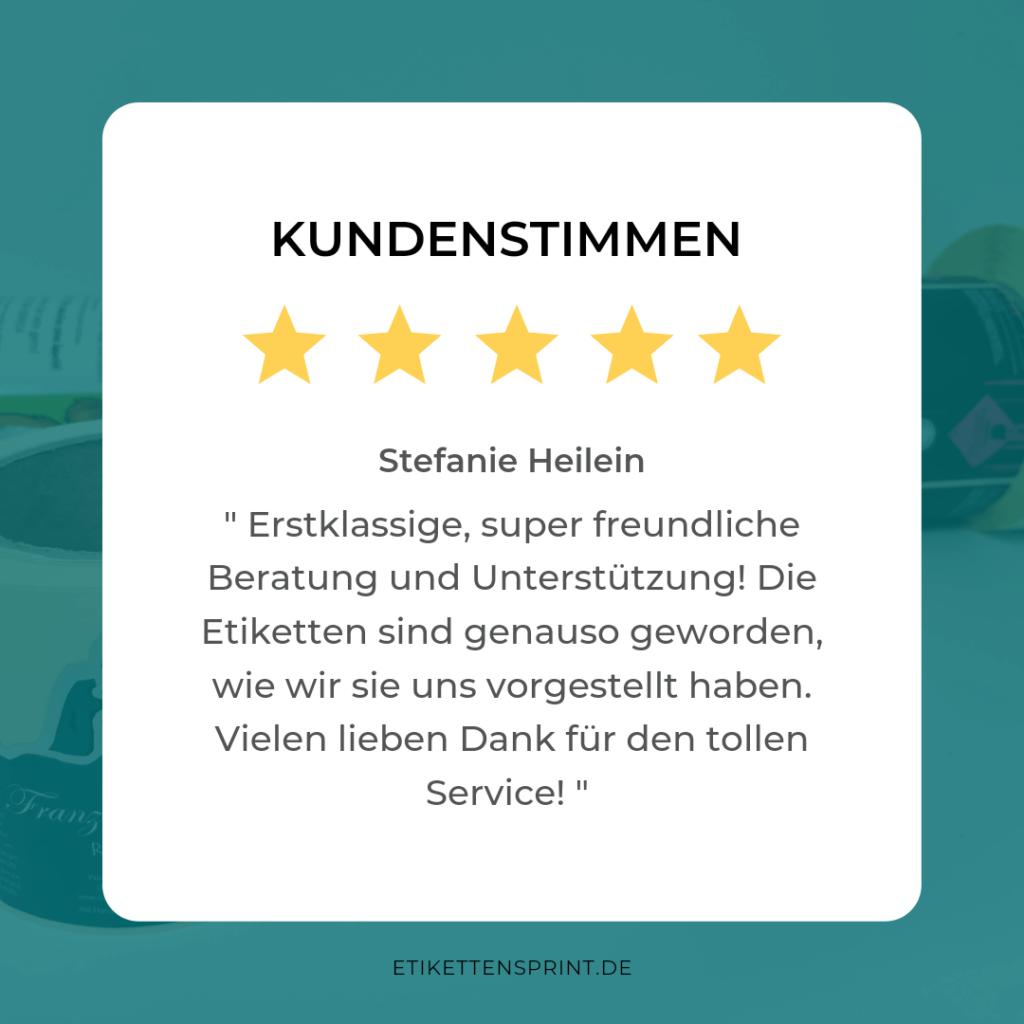 Bewertung Etikettensprint GmbH